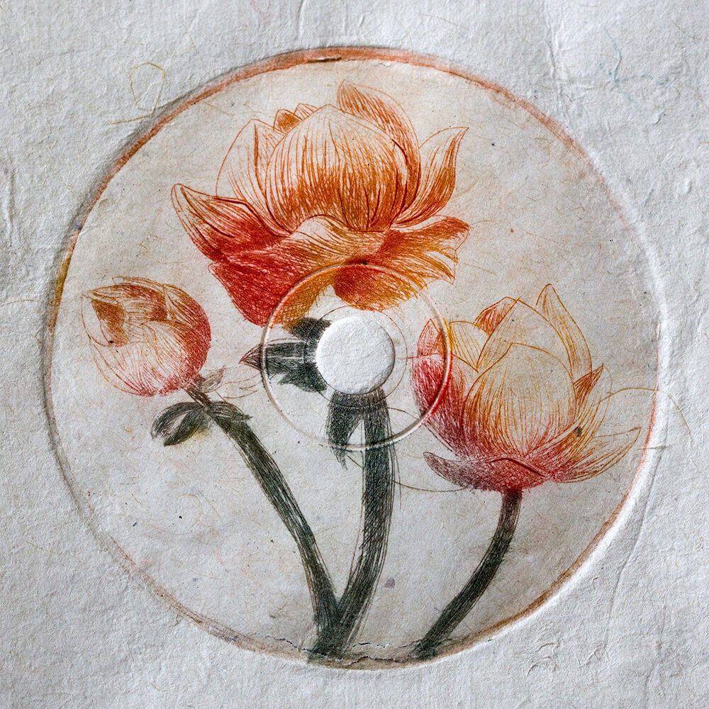 Flower-Drypoint-Printmaking-by-Sudesha-Shrestha