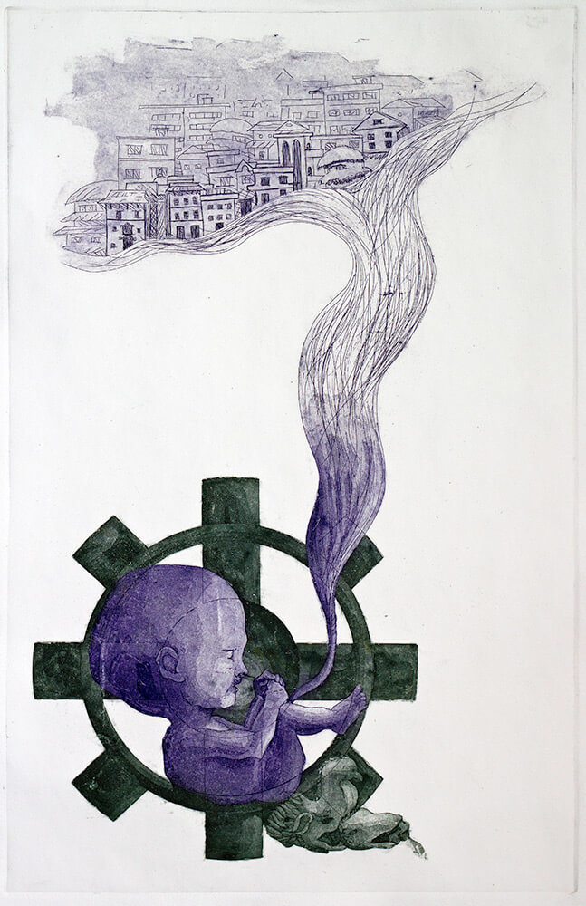 The-Birth-Etching-Printmaking-by-Sudesha-Shrestha
