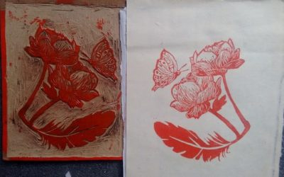 Feather, Flowers and Butterfly – The Beauty of Woodcut