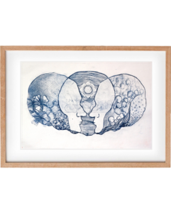Connected 1 – Drypoint Print, Original Print, Wall Art