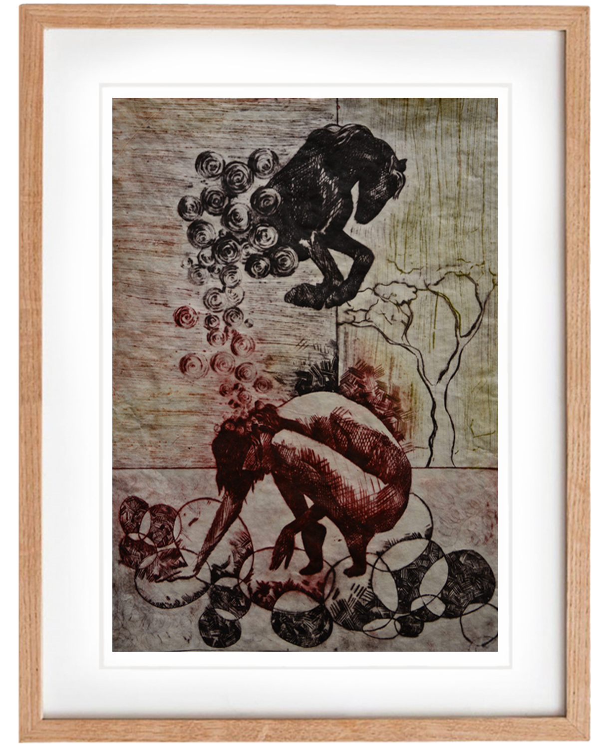 Strong – Drypoint print, wall art